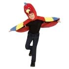 Papagailis  104, 110 mīksta plīša ar kapuci spārnotais apmetnis maska