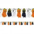 Helovīna virtene skariņi ķirbji, papīra dekorācija, 240- x-16 cm.