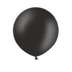 Apaļas formas liels lateksa balons melnā krāsā, 90cm, pastelis, 1 gab.