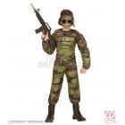 Karavīru uniforma  ar muskuļiem 128 cm  5-7 gādu vecumā bērniem