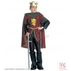 Karaliskā bruņinieka kostīms (140cm), mētelis, bikses, apavu pārvalki, apmetnis, kronis ar dārgakmeņiem