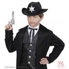 Kovboja cepure, melna ar šerifa zvaigzni  (bērniem)