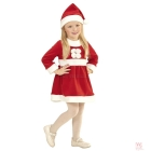 Santa Claus komplekts - kleita cepure 110 cm 3-4 gadu meitenei