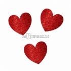 Sirsniņas lielā paka - Spīdīgas sirsniņas komplekts, 20gb - 2x30cm, 3x18cm, 15x13cm sarkanas sirsniņas ar gliteru