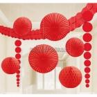 Telpu dekorēšanas komplekts, sarkans, 9 priekšmeti