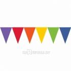 Vimpeļu virtene, varavīksnes košās krāsas,   24 karodziņi un  4.50m lente
