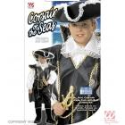 Pirata kostīms, (128cm),  krekls, mundieris ar apmetni, bikses ar apavu pārvalkiem, cepure