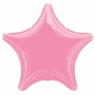 """19""""/48cm, folijas balons,  Zvaigzne, gaiši rozā"""