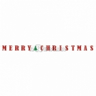 Merry Christmas Papīra virtene 365cm