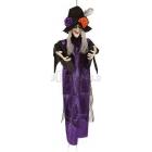 """Helovīna dekorācija """"Ragana ar mirdzošām acīm"""", karājas, 100 cm"""