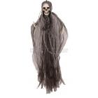 """Dekorācija HelovĪniem """"Skelets ar apmetņi"""", piekaramā, izmērs 80 cm"""