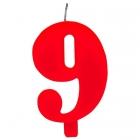"""Tortes svece staitlis """"9"""" , sarkanā, dzirkstošā, 9.5 cm"""