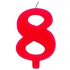 """Tortes svece staitlis """"8"""" , sarkanā, dzirkstošā, 9.5 cm"""