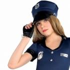 Policistes, kostīms 158 cm meitenēm, komplektā kleita, cepure, josta, cimdi bez pirkstiem, legingi, rokudzelži