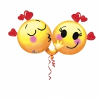 """Folgas hēlija balons """"Emoži – Romantiskais pārītis"""", izmērs 91 x 53 cm,"""