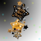"""Folijas multi balons """"Laimīgu Jauno Gadu!"""", izmērs 93 x 170 cm,"""