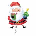 """Folijas hēlija balons """"Ziemassvētku vecītis ar eglīti"""", izmērs 66 x 93 cm,"""