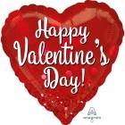 Happy Valentins's Day - sirds formas folijas balons  Valentindienai, izmērs 71 cm