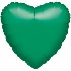 Koši zaļā krāsā sirds formas folijas balons piepūšams ar hēliju izmērs 43 cm