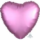 """Sirds formas folijas balons """"Satin Luxe Rozā Flamingo """", izmērs, 43cm, piepušams ar hēliju"""
