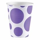 8 Cups New Purple Dots 266 ml