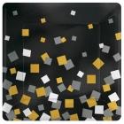 8 Plates Sparkling Confetti   squared metallic paper 17,7cm