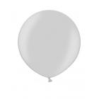 Apaļas formas liels lateksa balons sudraba krāsa, 60cm, metālika, 1 gab.