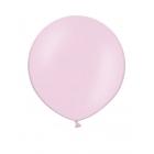Apaļas formas liels lateksa balons gaiši rozā krāsā, 60cm, pastelis, 1 gab.