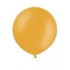 Apaļas formas liels lateksa balons oranžā krāsā, 60cm, pastelis, 1 gab.