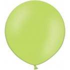 Apaļas formas liels lateksa balons abolu zaļā krāsā, 60cm, pastelis, 1 gab.