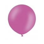 Apaļas formas liels lateksa balons spilgti rozā, fuksijas krāsā, 60cm, pastelis, 1 gab.