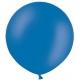 Apaļas formas liels lateksa balons spilgti zilā, krāsā, 60cm, pastelis, 1 gab.