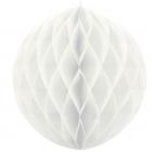 Šūnveida papīra bumba 20 cm balts