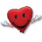 """Folijas hēlija balons """"Mīlu Tevi - Love & Hug"""", izmērs 65 x 104 см,"""