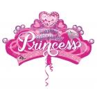 """Folijas balons """"Princeses kronis"""", Liela Figūra, P35, iepakots, 81 x 48cm"""