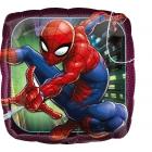 """Kvadrātveida folijas balons """"Spider-Man Animated"""", iepakots, 43 cm"""