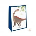 """Dāvanu maisiņi ar uzlimes """"Laimīgs Dinozaurs"""", 4 gab."""