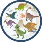 "Šķīvīši ""Laimīgs Dinozaurs"" 18 cm, 8 gab."