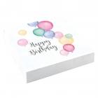 """Salvetes """"Dzimšanas diena pasteļtoņos"""" 33 x 33 cm., 20 gab"""