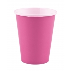 Glāzītes, spilgti rozā, 266 ml, 8 gab