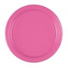 Šķīvīši, papīra, spilgti rozā, 23 cm, 8 gab