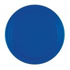Šķīvīši, papīra, tumši zili, 23 cm, 8 gab
