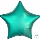 """Zvaigznes formas folijas balons """"Satin Luxe Nefrīta krāsa"""" , iepakots, 43cm"""