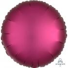"""Apaļš folijas balons """"Satin Luxe Granātābolu krāsa"""", iepakots, 43cm"""