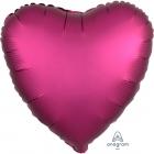 """Sirds formas folijas balons  """"Satin Luxe Granātābolu krāsa"""", iepakots, 43cm"""