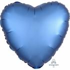 """Sirds formas folijas balons """"Satin Luxe Zila krāsa"""", iepakots, 43cm"""
