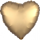 "Sirds formas folijas balons ""Satin Luxe Zelta krāsa"", iepakots, 43cm"