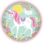8 Šķīvīši Magical Unicorn  23 cm