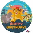"Standard ""Lion Guard Happy Birthday"" foil baloniņš 43cm"