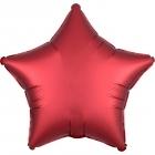 """Zvaigznes formas folijas balons """"Satin Luxe  SARKANA SANGRIJA krāsa"""", iepakots, 43cm"""